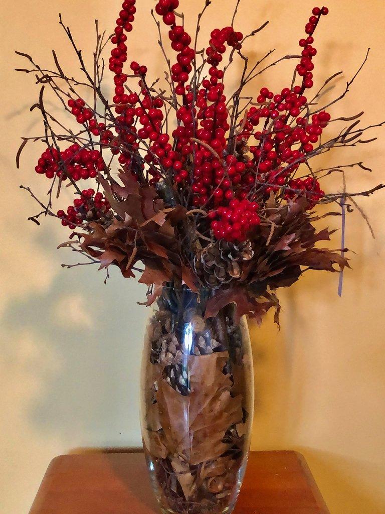 Red berry arrangement