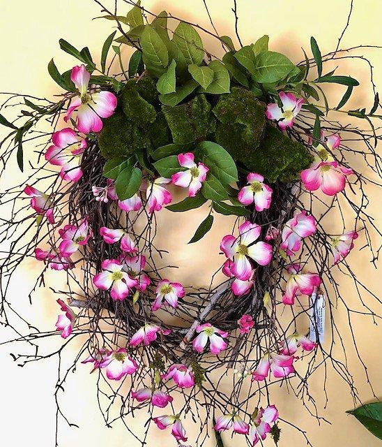 Dogwood Flowers Wreath